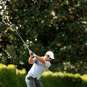 Paul Casey hits his tee shot at No. 9 at the Arnold Palmer Invitational during Round 1 at Bay Hill Lodge and Club.