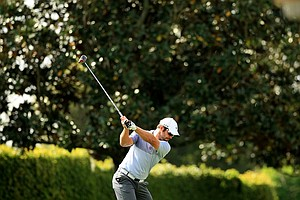Paul Casey hits his tee shot at No. 9 at the Arnold Palmer Invitational during Round 1 at Bay Hill Lodge and Club.