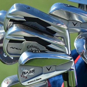 Chris Kirk plays a blended set comprised of Callaway Apex long irons and Razr X Muscleback mid- and short irons.