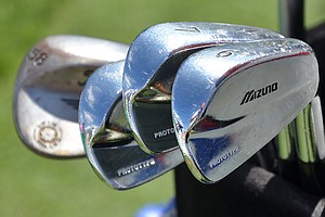Jeff Overton's prototype Mizuno irons shined brightly under the Orlando sun at Bay Hill.
