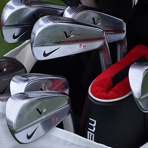Francesco Molinari prefers the Nike VR Pro Blade irons.