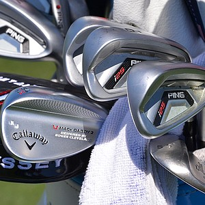 K.J. Choi is currently playing Ping's i20 irons and Callaway's Mack Daddy 2 wedges.