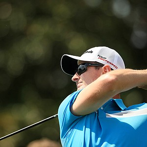 Justin Rose hits his tee shot at No. 9 during Round 2 of the Arnold Palmer Invitational at Bay Hill Lodge and Club.