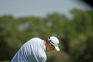 Michael Putnam hits his tee shot at No. 1 during Round 2 of the Arnold Palmer Invitational at Bay Hill Lodge and Club.