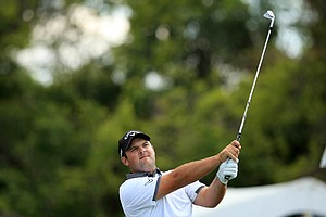Patrick Reed hits his tee shot at No. 7 during Round 2 of the Arnold Palmer Invitational at Bay Hill Lodge and Club.