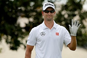 Adam Scott in Round 3 of the Arnold Palmer Invitational at Bay Hill Lodge and Club.