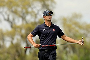 Adam Scott during the final round of the Arnold Palmer Invitational at Bay Hill Lodge and Club.