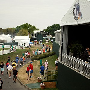 The Golf Channel studios during the final round of the Arnold Palmer Invitational at Bay Hill Lodge and Club.