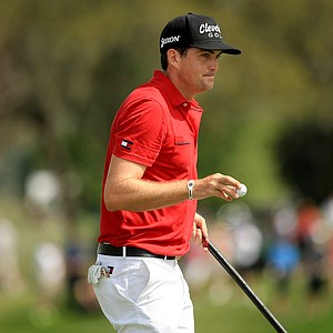 Keegan Bradley in the final round of the Arnold Palmer Invitational at Bay Hill Lodge and Club.