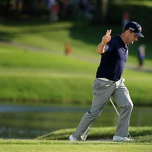 Matt Every after he nearly holed out at No. 17 during the final round of the Arnold Palmer Invitational at Bay Hill Lodge and Club.