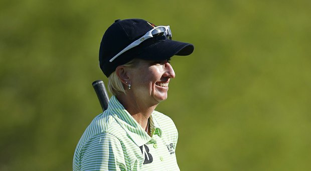 Karrie Webb during the final round of her win in the LPGA's 2014 JTBC Founders Cup at Wildfire Golf Club in Phoenix.