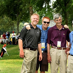 Ron Balicki, second from right, with Golfweek associate editor Lance Ringler (from left) and former Golfweek staffers Asher Wildman and Jared Clemons.