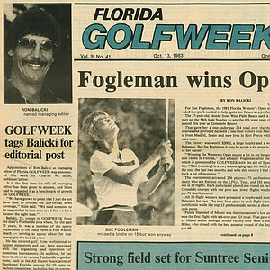 Ron Balicki was hired before Golfweek was printed on glossy paper.
