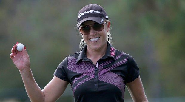 Natalie Gulbis is an Adidas Golf ambassador.