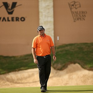Steven Bowditch during the third round of the 2014 Valero Texas Open in San Antonio.