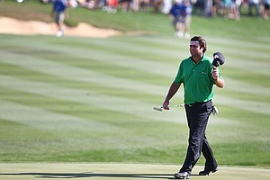 Steven Bowditch during the final round round of the 2014 Valero Texas Open in San Antonio.