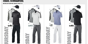 Schwartzel's Nike Golf apparel at 2014 Masters