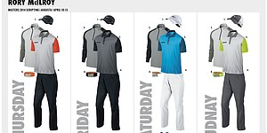 McIlroy's Nike Golf apparel for 2014 Masters
