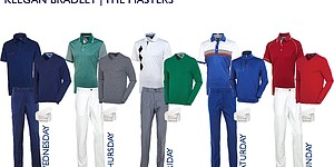 Bradley's scripted apparel for 2014 Masters