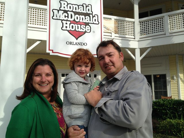 Christy and Jason Roschen could stay with daughter Macy thanks to Ronald McDonald House, which helps house parents near the hospital when their children are there for long-term care.