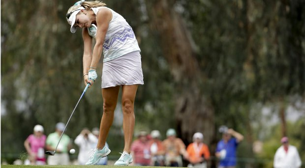 Lexi Thompson during Friday's second round of the LPGA's 2014 Kraft Nabisco Championship.