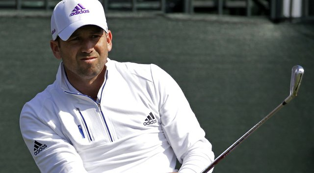 Sergio Garcia during the second round of the Shell Houston Open.