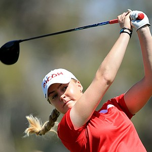 Charley Hull during Saturday's third round of the LPGA's 2014 Kraft Nabisco Championship.