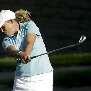 Cristie Kerr during Saturday's third round of the LPGA's 2014 Kraft Nabisco Championship.