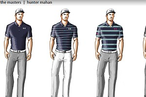 Hunter Mahan's scripted apparel from Under Armour for the 2014 Masters.