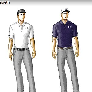 Jordan Spieth's scripted apparel from Under Armour for the 2014 Masters.