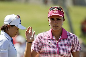Lexi Thompson during Saturday's third round of the LPGA's 2014 Kraft Nabisco Championship.