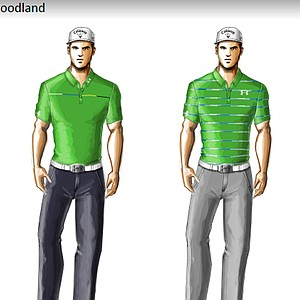 Gary Woodland's scripted apparel from Under Armour for the 2014 Masters.