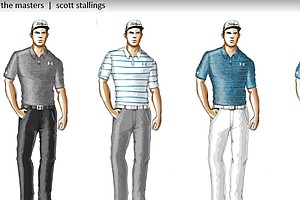Scott Stallings' scripted apparel from Under Armour for the 2014 Masters.