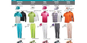 Fowler's scripted apparel for 2014 Masters