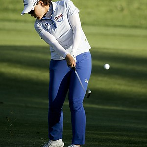 Se Ri Pak during Saturday's third round of the LPGA's 2014 Kraft Nabisco Championship.