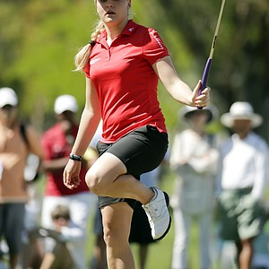 Charley Hull during the final round of the LPGA's first major of 2014, the Kraft Nabisco Championship.