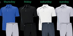 Adidas Golf scripted apparel for 2014 Masters