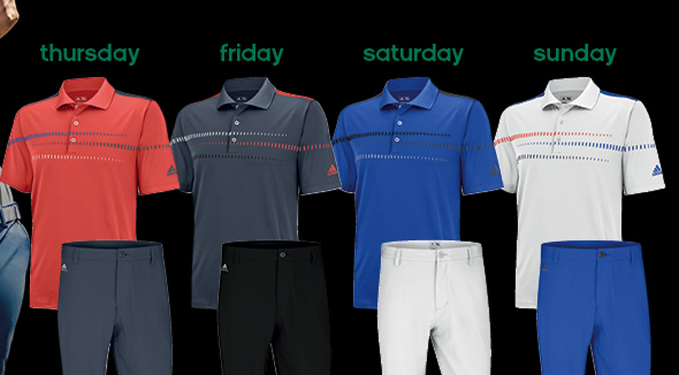 Jason Day's apparel from Adidas Golf for the 2014 Masters.