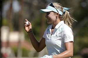 Lexi Thompson during the final round of the LPGA's first major of 2014, the Kraft Nabisco Championship.