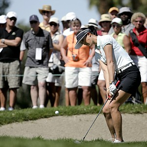 Michelle Wie during the final round of the LPGA's first major of 2014, the Kraft Nabisco Championship.