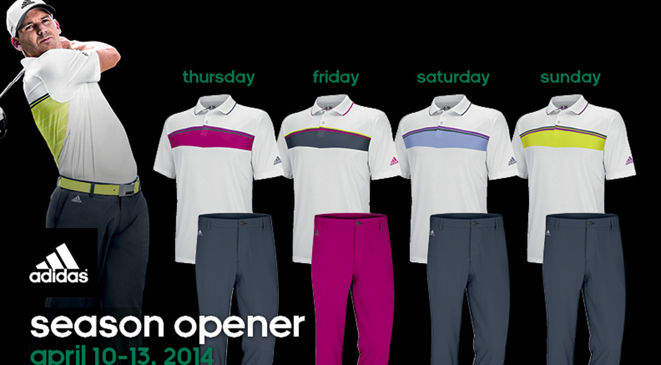 Sergio Garcia's apparel from Adidas Golf for the 2014 Masters.