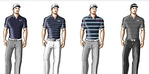 Mahan's scripted apparel for 2014 Masters