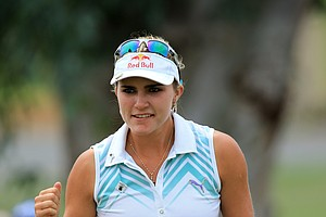 Lexi Thompson during the second round of the 2014 Kraft Nabisco Championship.