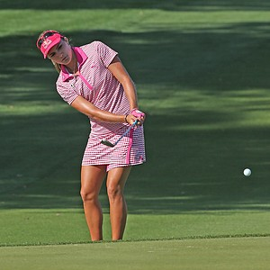 Lexi Thompson during the third round of the 2014 Kraft Nabisco Championship.