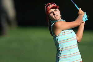 Lexi Thompson during the first round of the 2014 Kraft Nabisco Championship.