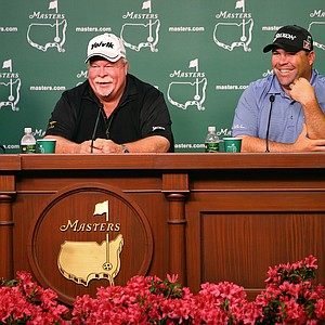 Father-son duo Craig and Kevin Stadler during the 2014 Masters week at Augusta National.
