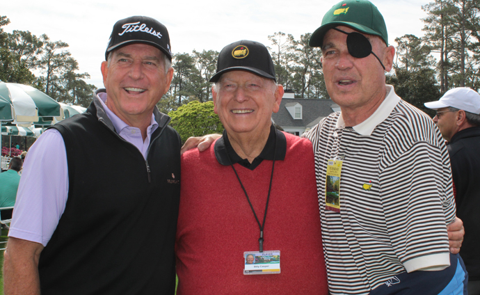 Jay Haas (left) arranged for Billy Casper (middle) and Clebe McClary (right) to meet on Tuesday at Augusta National.