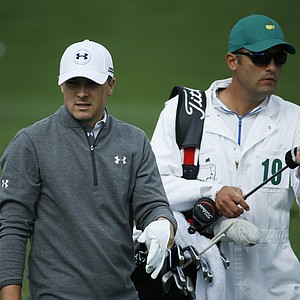 Jordan Spieth during a practice round for the Masters Tuesday at Augusta (Ga.) National Golf Club.