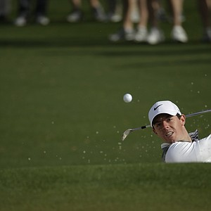 Rory McIlroy during a practice round for the Masters Tuesday at Augusta (Ga.) National Golf Club.