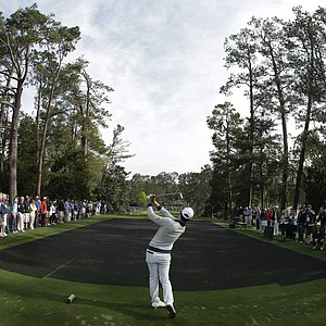 Sang-Moon Bae during a practice round for the Masters Tuesday at Augusta (Ga.) National Golf Club.